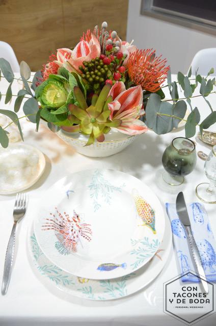 Mesa para dos con sabor a mar